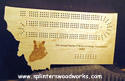 Montana Cribbage Board with Grizzly