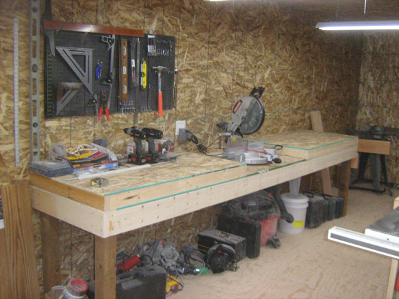 Sliding Miter Saw Bench In Woodworking Shop At Splinters